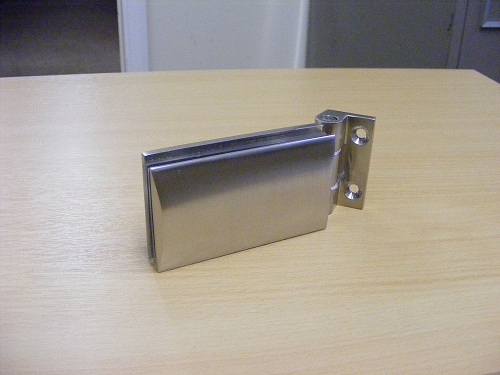Satin Hinge for Interior Glass Doors