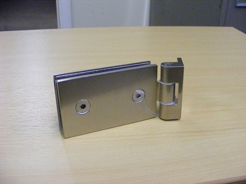 Satin Hinge Rear for Interior Glass Doors